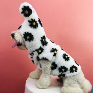 Зимние последние домашние животные бархатные пальто High Street Personality Designer Schnauzer шарф подарок на день рождения для биххальных мягких куртков