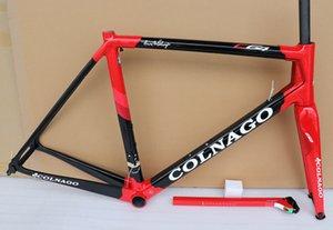 seçimi için Yeni T1100 Karbon Bisiklet Çerçeve Siyah kırmızı Colnago C64 karbon yol çerçeve bisiklet Çerçeve daha 30 renk