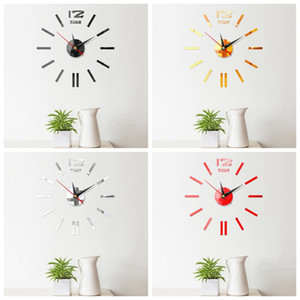 Neue Wanduhren 3D DIY Taktgeber Acryl Spiegel Aufkleber Hauptdekoration Wohnzimmer Quarz Nadel Self Adhesive Uhr Hanging