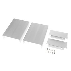 Caja de la caja de aluminio extruido de alta calidad PCB recinto de refrigeración en forma de L de bricolaje 105x55x150mm Blanca