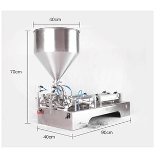 paste filling machine, ketchup, shampoo, essential oil, honey, etc. paste filling machine, pneumatic double-head paste filling a