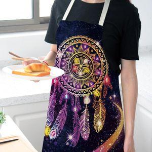 carillón de la cocina delantales de cocina creativa del viento impresión impermeable Delantal de la cocina ajustable Hombre Mujer El delantal del cocinero nave de la gota Nuevo