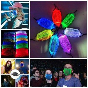 Masques LED Halloween Glowing visage masque lumineux avec filtre PM2,5 7 couleurs pour la décoration de fête de Noël Festival de mascarade Rave Mask CYF4438
