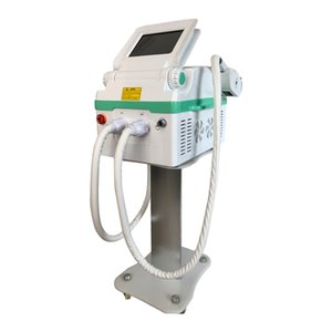 Hot selling Portable ND yag laser+ IPL OPT SHR 2 in 1 machine for tattoo pigmentation hair removal and skin rejuvenation