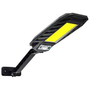 Оптовая 180LED Пульт дистанционного управления Солнечная лампа Датчик движения настенный светильник Открытый уличный фонарь водонепроницаемый Garden Street безопасности