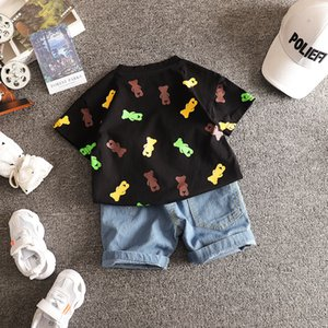 Baby Boys Girls Summer Clothes Cartoon Cotton Infant Sports Suit for Boy Cute Printed Short sleeve T-Shirt + Shorts 2pcs