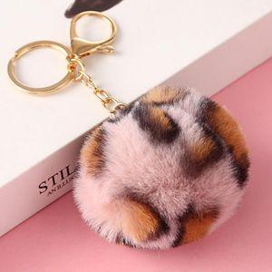37 Colors 8cm Imitate Rabbit Fur Ball Keychain Pom Pom Car Keychain Handbag Keychain Fluffy Faux Rabbit Fur Key Ring HHF1680