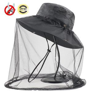 Açık Survival Anti Mosquito Bug Arı Böcek Mesh Hat Baş Yüz koruyun Net Kapak Seyahat Kamp Koruyucu Nefes Anti-sun