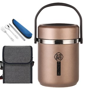 12 hour Vacuum Insulated Lunch Box Stainless Steel Bento Box Japanese Style School Kids Camping Portable Food Container Thermos Cl200920