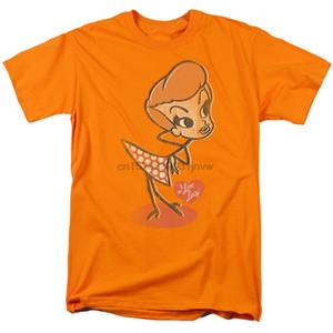 Adulti T Shirt I love Lucy Vintage Doll licenza Abbigliamento taglie forti Tee Shirt