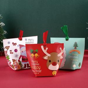 Yaratıcı Noel Şeker Kutuları Noel Mini Santa Elk Güzel Hediye Kutuları Çikolata Pişirme Paketi Parti Süsleri VT1591 Ambalaj Ambalaj
