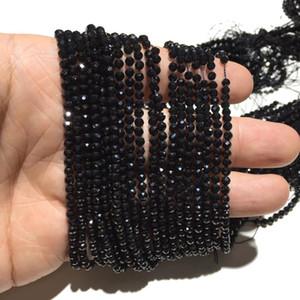 Natural Black Spinell Small Size facettierte ringsum loses Korn Healing Energie-Stein für Schmuck Armband Halsketten-Entwurf 2mm 3mm 4mm