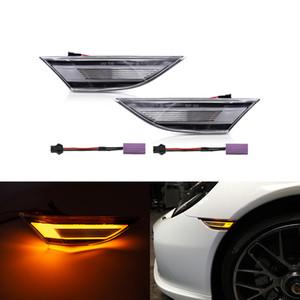 Misure per Porsche 991 Carrera S 4 4S GTS GT3 981 Boxster Cayman 718 Canbus anteriore LED ambra indicatore laterale delle luci