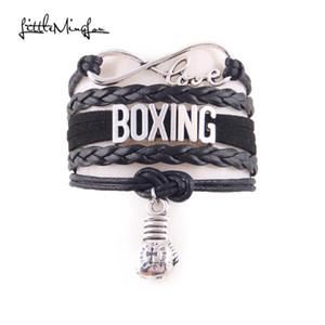 kadınlar takı Little Minglou Infinity Aşk hobi Boks bilezik boks eldiveni çekicilik deri sarma erkek bilezik bilezikler