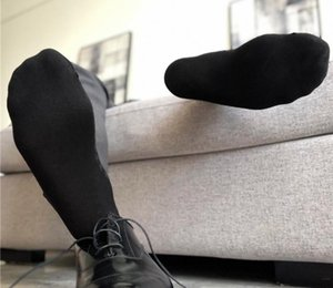 Fashion Cotton Mens Silk Socks Formal Suit Dress Hose Sexy Sheer Man Stocking Gay Harajuku Business Socks99