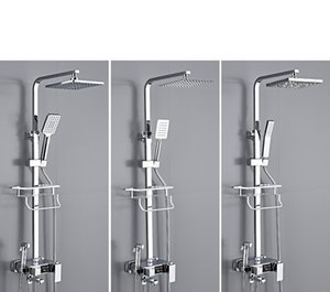 Factory Direct Sales Constant Temperature Digital Display Shower Head Set All Copper Faucet Bathroom Household Lifting Pressurized Shower No