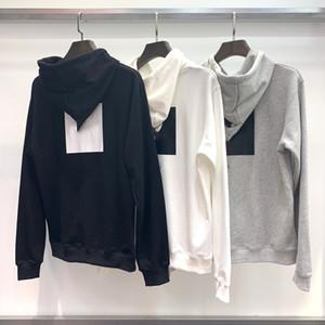 20SS Mode-Marken-Entwerfer Männer Frauen Hoodies Begrenzte Brief Logo und Square Zurück Drucken Hood Stickerei Druck auf Brust und Rücken TNF