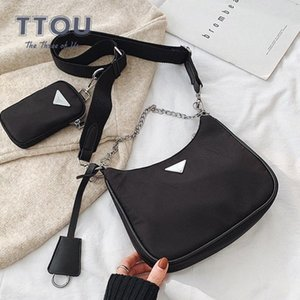 High Street Solid Color Women Crossbody Bags Famous Chain Ladies Handbags Wild Female Shoulder Messenger Bags EBT4#