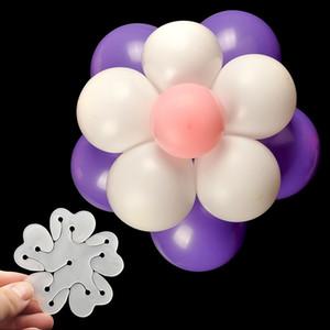 Neuer Doppelschicht-Formclip zweischichtigen Ballon Pflaumenblüte Clip Zubehör Hochzeit Raumatmosphäre zu balloonballoon