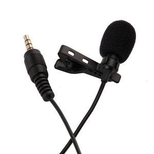 Samsung Smartphone için Yeni Taşınabilir Clip-Yaka Boyun Mikrofonu 3.5mm Jack Hands-free Mini Kablolu Kondenser Mikrofon