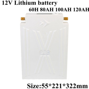 New 12V 60Ah 80Ah 100Ah 120Ah Lithium Ion Li-ion Battery Pack 12v for Solar Panal UPS Outdoor Xenon Lamp Power+10A Charger