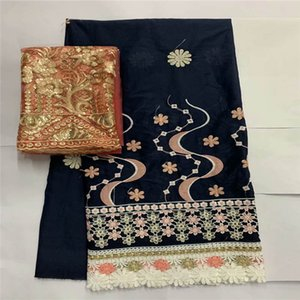 2020 High Quality 100% Cotton African Lace Fabric Embroidery Printing Fabric 7 Yards For Women's Dress Textile Material!LXF9995
