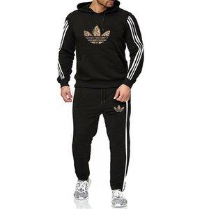 designers de roupa ao ar livre dos homens agasalho Sweat Suits ver Moda Outono Jogger moletom jaqueta Calças Sets Sporting sportswear Suit Hoodie