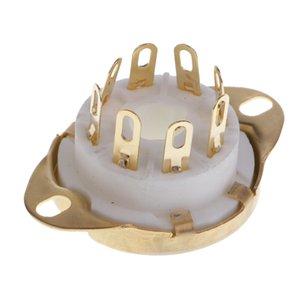 8pin PCB de montagem do tubo de vácuo soquete GZC8-Y-3-L Para KT88 / 6550 / 6V6 EL346P6P