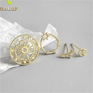 Flyleaf prata esterlina 925 brincos para mulheres Estrela Zircon Neckband alta qualidade Femme Simple Gold brincos moda jóias