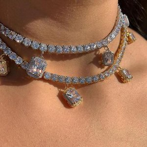 Fashion woman water drop neck chain bling rhinestone crystal necklace bride romantic wedding luxury exquisite jewelry