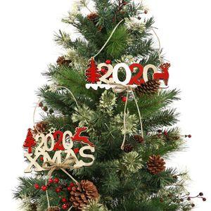 لوازم عيد الميلاد رسالة البرمة خشبي تسجيل قلادة عيد الميلاد خشبي زينة الإبداعية شجرة عيد الميلاد الديكور شحن مجاني