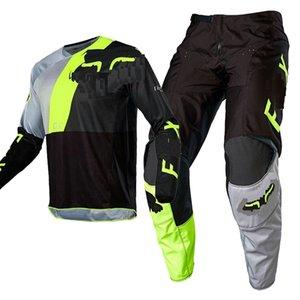 YENİ 2020 hızla FOX 180/360 Motokros Jersey ve Pantolon MX Dişli Seti Combo MTB ATV Off Road Flexair motosiklet yarış takım elbise enduro