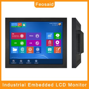 "Feosaid 19"" 21.5 inch industrial monitor 23.6"" Factory production monitoring monitors Tablet Monitor VGA HDMI input for PC"