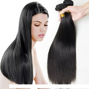 H Cambodian Straight Human Virgin Hair Weave Natural Color Double Wefts Dyeable Bleachable 3pcs Lot 100g Pc Human Remy Hair Extensions