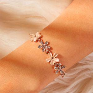Charm Bracelets Fahsion Flower Bracelet For Women Accesorios Pulseras Mujer Gold Party Gift Wedding Vsco Girl Jewelry Feminina