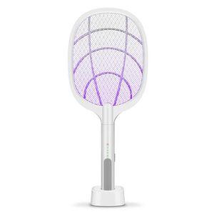Съемная батарея Аккумуляторная электрическая Swatter Борьба с вредителями насекомых Bug Bat Wasp Zapper Fly Mosquito Убийца с LED освещение DHA134