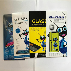 2000pcs Ant Design Universal Paper Retail Package Packaging Box for Mobile Phone Tempered Glass Screen Protector Bag Pouch
