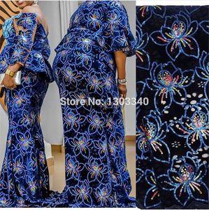 Popular design velvet lace beautiful flower pattern silk lace for dress 5 yards free shipping African velvet fabric 2020