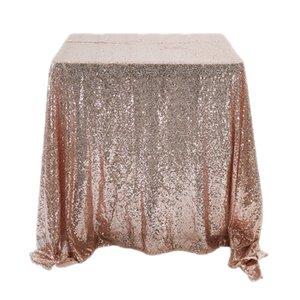 Rectangle Pailletten Glitzer-Tischdecke Sparkly Tischdecke Abdeckung Hochzeit Weihnachten Tischdekoration Rose Gold