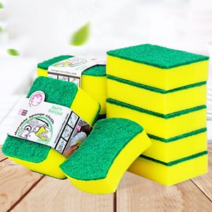 10PCS High Density Sponge Kitchen Cleaning Tools Washing Towels Wiping Rags Sponge Scouring Pad Microfiber Dish Cleaning Cloth