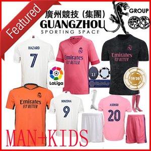 KIDS kit 20 21 Real Madrid camisetas de fútbol CAMPEONES INSIGNIA Tercera de Visitante 2021 2020 NIÑO PORTERO Jovic JAMES PELIGRO DE HOMBRE Camisetas de Fútbol