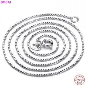 BOCAI S925 ожерелье стерлингового серебра 2020 нового способа тайский серебряный Мужской Individual квартет Box чистого ожерелье
