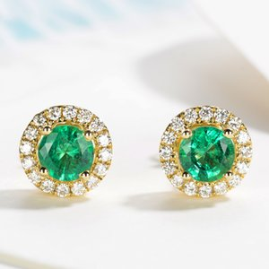 Colorful Crystal Stud Earrings For Women Wedding Party Engagement Gift Fashion Jewelry E836-M