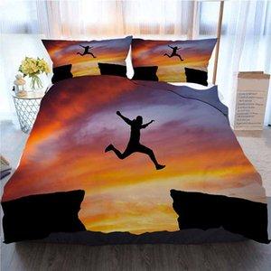 Постельные принадлежности 3 шт Пододеяльник наборы, человек прыгает, Across The Home Luxury Soft Duvet Утешитель Обложка
