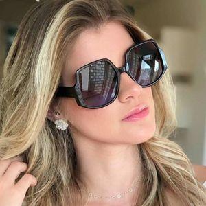 Fashion sunglasses women 2020 oversized Brand Designer Vintage gradient sunglasses woman big frame glasses Female shades UV400