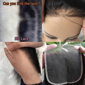 Invisible HD 4x4 rendas finas e frete grátis 5x5 fechamento 100% cabelo virgem pelo alto grau FedEx
