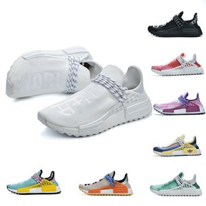 2020 High Quality Nmd Running Shoes Inspire mankind BASF popcorn Sports Shoes Happy pure white Blue Pink Lace up Trainers Men Women Shoes