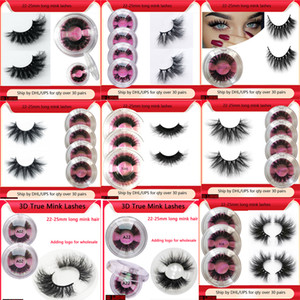 6D Mink Cheveux Faux Cils de Faux 25mm Longue Lashes épaisses Visuelle Virgy Fluffy Cils 5D Mink Eye Lashes 25mm Faux Cils De Faux Epais Long 5D Mink Lashes