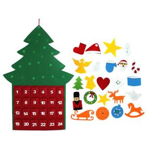 Обратный отсчет Рождество Большой Advent Карманы календарь с Decor Новые украшения Висячие рождественские украшения календарь Felts года 664_tsetBoy