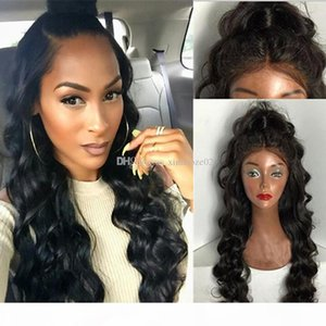 High Density Full Lace Wig 180 Density Wavy Gluleless Virgin Full Lace Human Hair Wig Bleached Knots Lacefront Human Hair Wigs For Women
